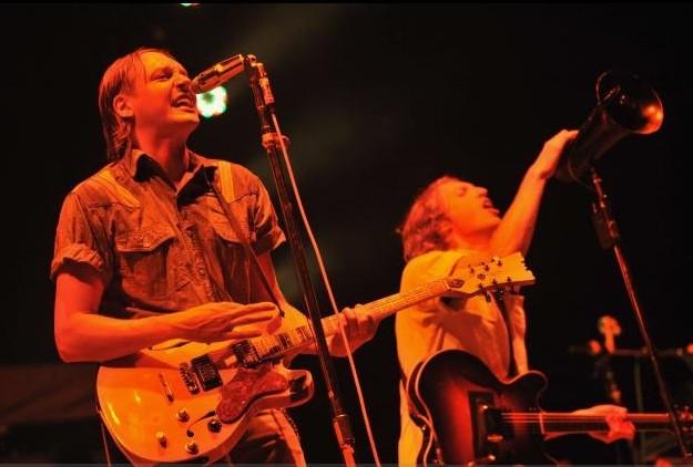 Arcade Fire lors de son spectacle à Québec,... (Photothèque Le Soleil, Patrice Laroche)