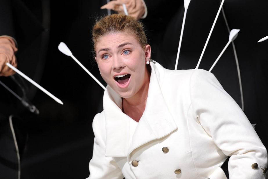 La chanteuse Annette Dasch durant une représentation de... (Photo: AFP)