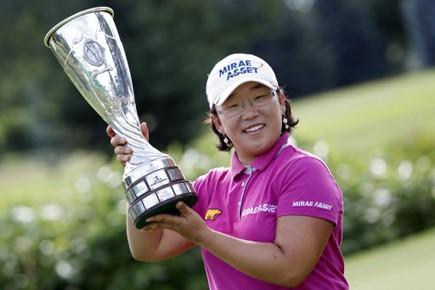La Sud-Coréenne Jiyai Shin a réussi un oiselet au 18e pour... (Photo: AP)
