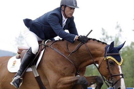 YannCandele et son cheval Game Ready.... (Photo: Pierre Pelletier)