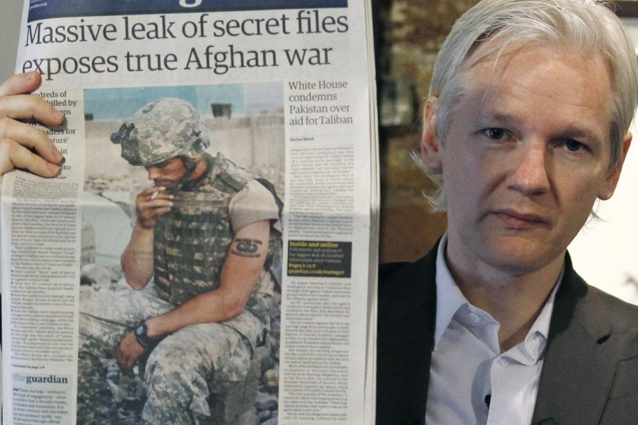 Le fondateur de Wikileaks, Julian Assange, a permis... (Photo: Reuters)