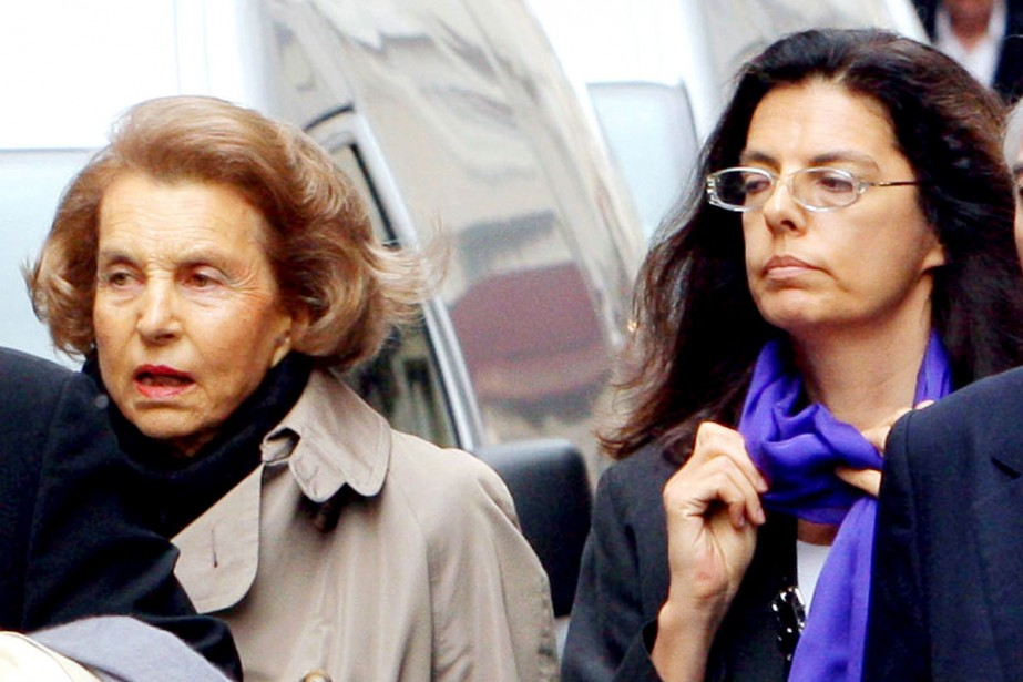 Liliane Bettencourt et sa fille Françoise, en 2007.... (Photo: archives AFP)