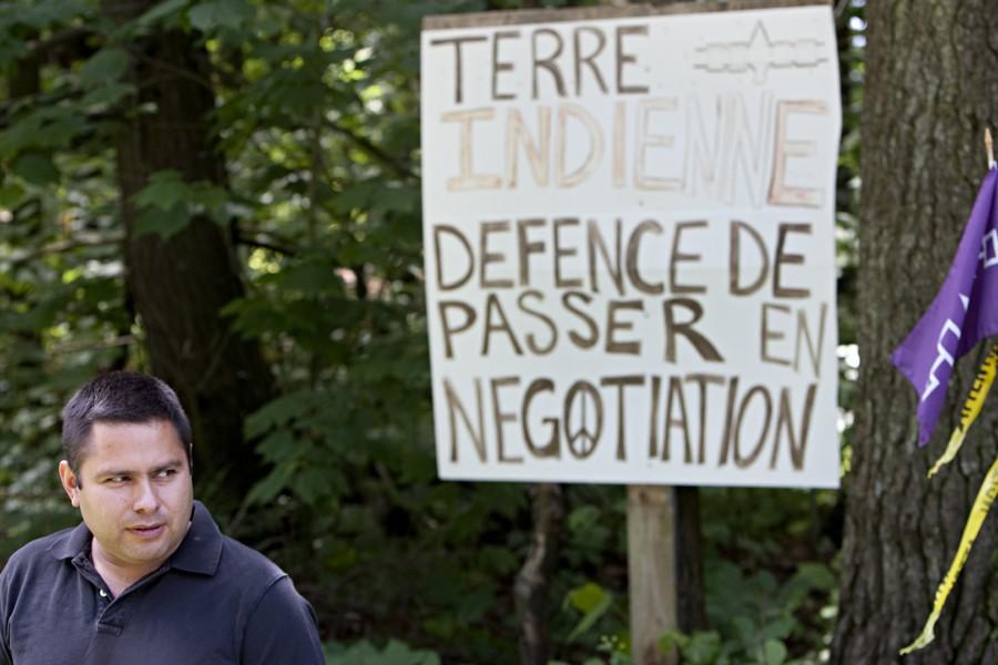 «Ces terres sont les nôtres et nous les... (Photo: François Roy, Archives La Presse)