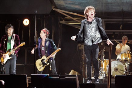 Ronnie Wood, Keith Richards, Mick Jagger et Charlie... (Photo: Reuters)