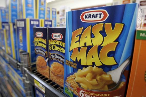 Même chose pour le célèbre Kraft Dinner qui... (Photo: AP)