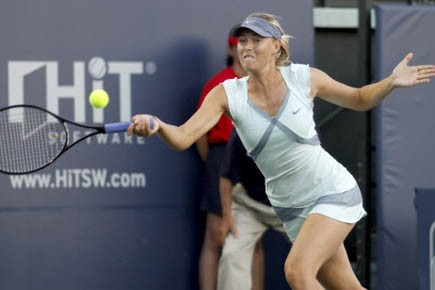 La Russe Maria Sharapova.... (Photo Reuters)