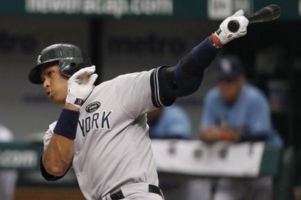 Alex Rodriguez e été inséré dans la formation... (Photo: Reuters)
