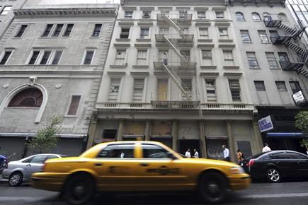 L'immeuble (au centre) où serait construite la Cordoba... (Photo: AFP)