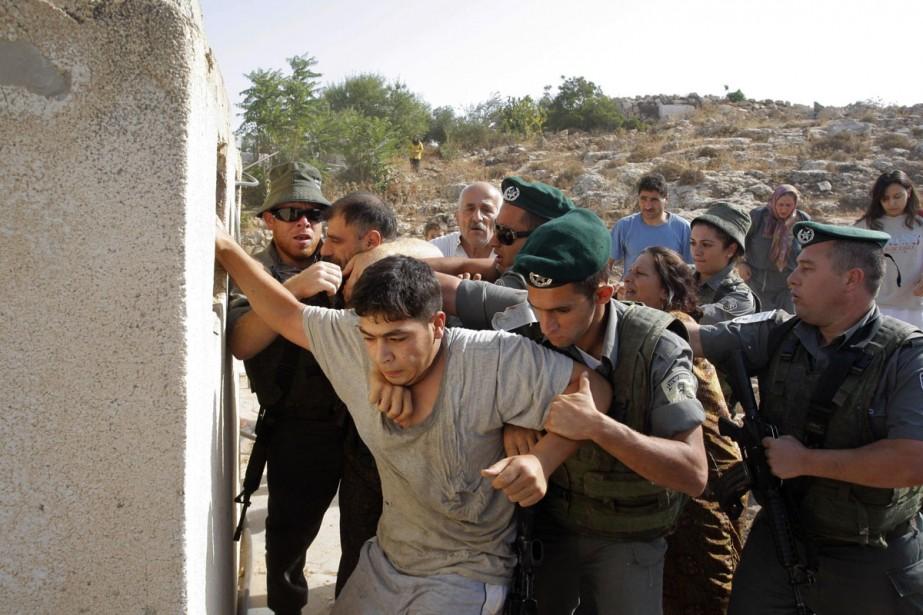 Ce jeune palestinien de 16 ans a été... (Photo: AP)