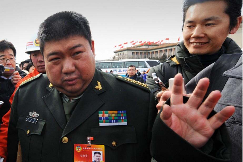 Le petit-fils de Mao Zedong, Mao Xinyu.... (Photo: archives AFP)