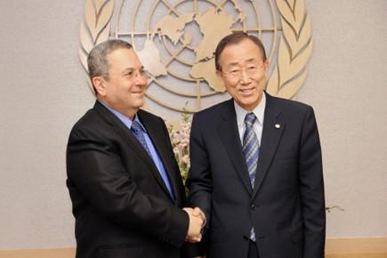 Le ministre de la Défense israélien Ehud Barak... (Photo: AFP)