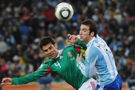 Rafael Marquez a endossé l'uniforme national pour la... (Photo: AFP)