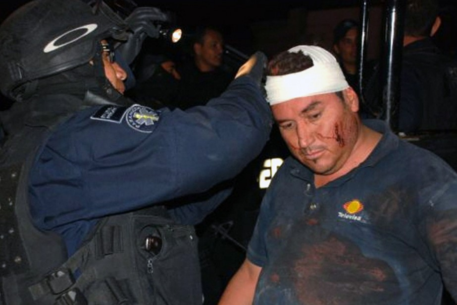 Le caméraman Alejandro Hernandez a eu de la... (Photo: AFP)