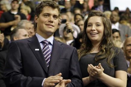 Levi Johnston et Bristol Palin lors de la... (Photo: AP)