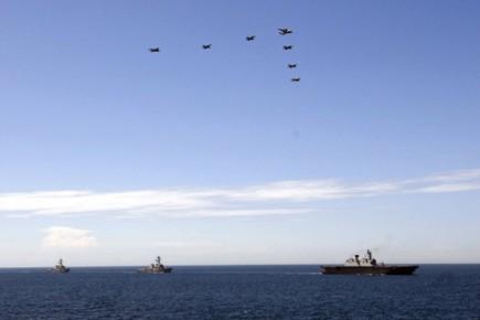 Séoul et Washington ont mené ensemble fin juillet... (Photo: AFP)