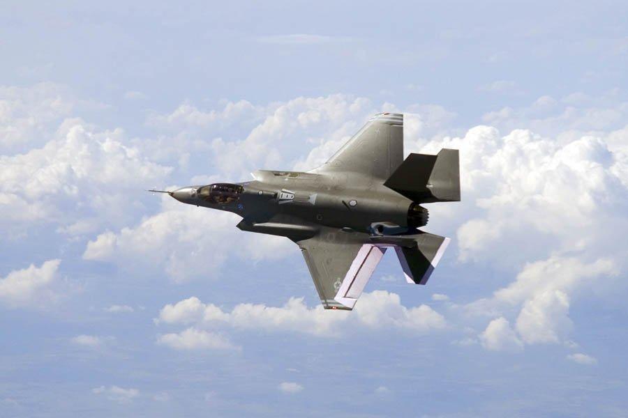 Le F-35JSF en vol.... (Photo: Archives AFP)