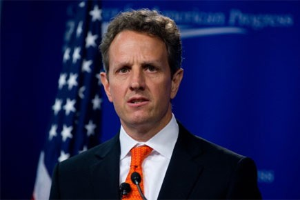Le secrétaire au Trésor américain Timothy Geithner... (Photo: AFP)