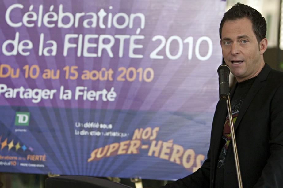 Jasmin Roy, porte-parole des Célébrations de la fierté... (Photo: François Roy, La Presse)