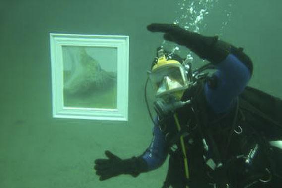 Une galerie d'art sous-marine a été aménagée dans... (Photo fournie par Aquart)
