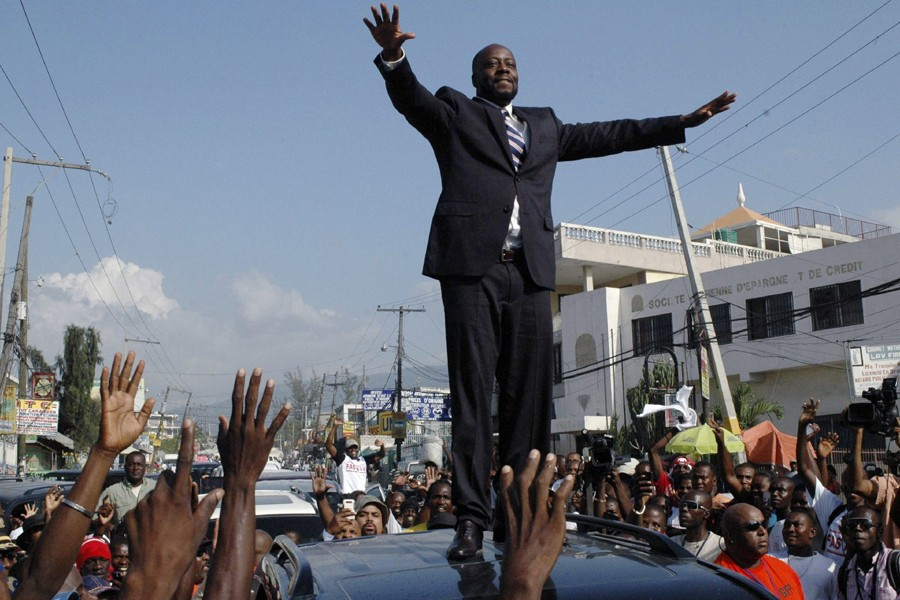 Wyclef Jean, à Port-au-Prince.... (Photo: Reuters)