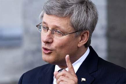 À Ottawa, le premier ministre Stephen Harper a... (Photo: PC)