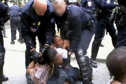 Les policiers français appelés le 21 juillet à... (Photo tirée du site Youtube)
