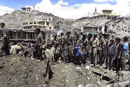 Leh, la principale ville de Ladakh, n'a pas... (Photo: AP)