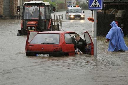 Les inondations affectent des citoyens de la République... (Photo: AP)