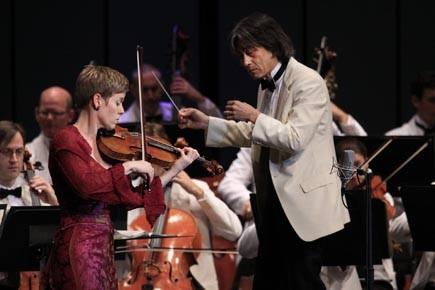 La violoniste allemande Isabelle Faust en concert avec... (Photo: Baptiste Grison/Festival de Lanaudière)