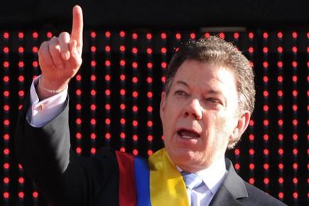 Juan Manuel Santos... (Photo: AFP)