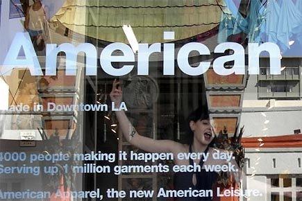 Le titre d'American Apparel se négocie à moins... (Photo: Martin Tremblay, archives La Presse)