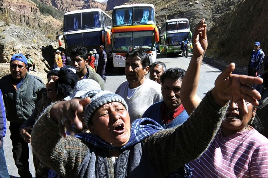 Des voyageurs boliviens se sont retrouvés bloqués à... (Photo: AFP)