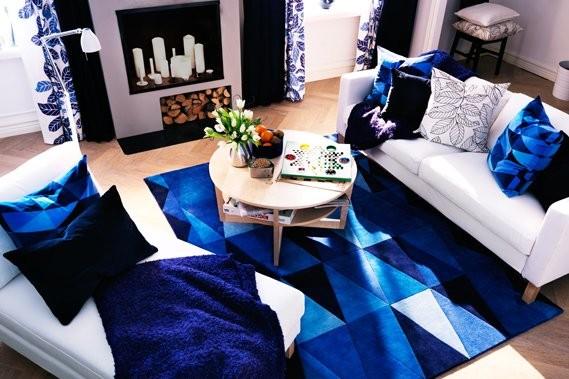 Le bleu dans toutes ses nuances est en... (Photo: IKEA)