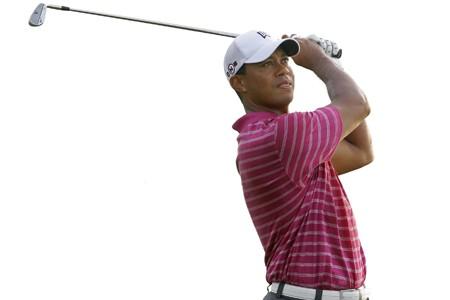 Tiger Woods a joué une ronde d'entraînement, mardi,... (Photo: Reuters)