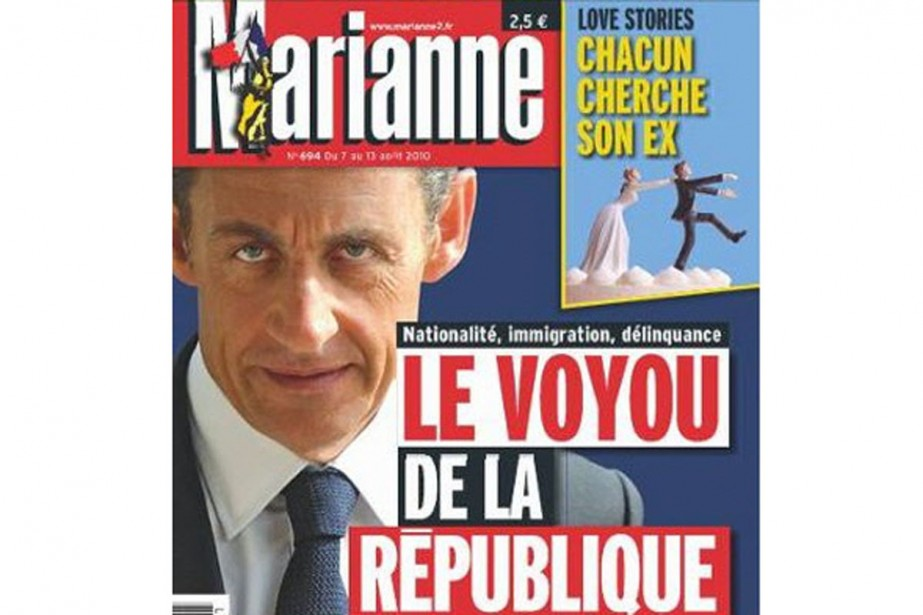 La une controversée de la revue Marianne....