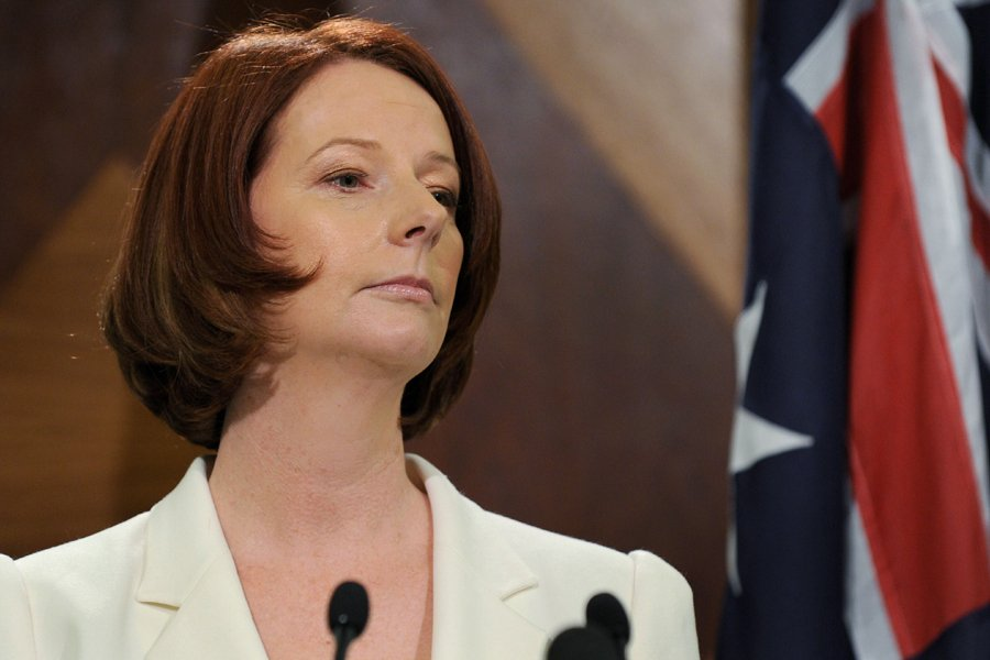 La première ministre australienne Julia Gillard a promis... (Photo: AFP)