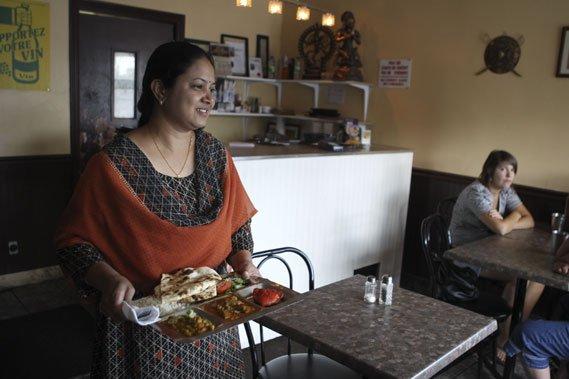 Le décor de Bombay Mahal est un peu... (Photo: Martin Chamberland, La Presse)