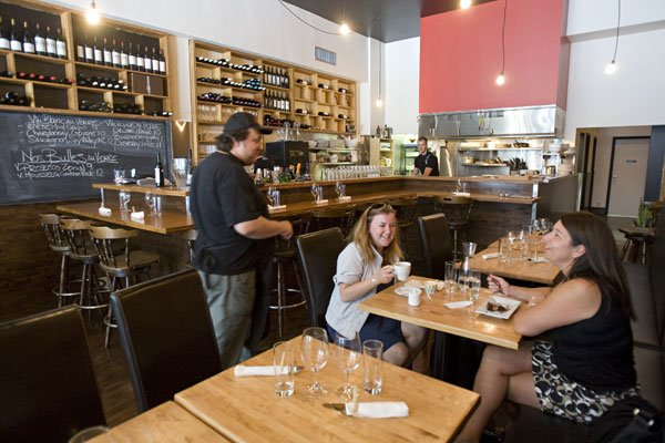 Le restaurant Kitchen Galerie Poisson, ouvert par l'équipe... (Photo: David Boily, La Presse)