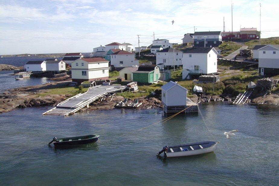 Harrington Harbour, petit port de pêche situé dans une île où aucune voiture de circule. | 1 mars 2011