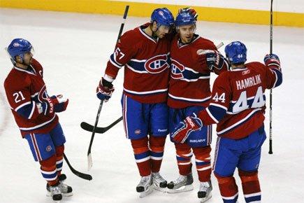 En fin de période, alors que le Canadien... (Photo: Reuters)