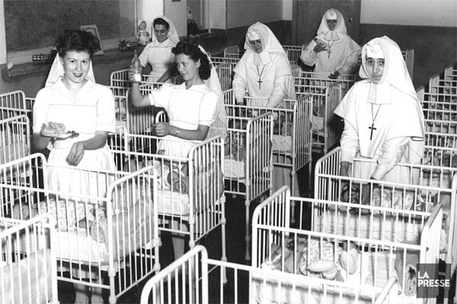 La pouponnière de la salle Sacré-Coeur, photographiée en... (Archives La Presse)