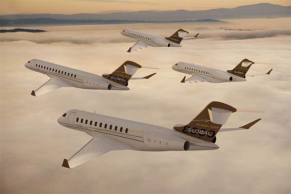 Les nouveaux Global Express 7000 et 8000 seront... (Photo: fournie par Bombardier)
