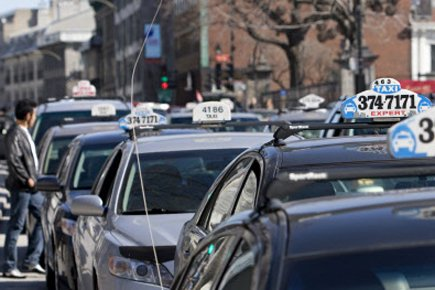 Le Bureau du taxi indique que 57 vols... (Photo: David Boily, La Presse)