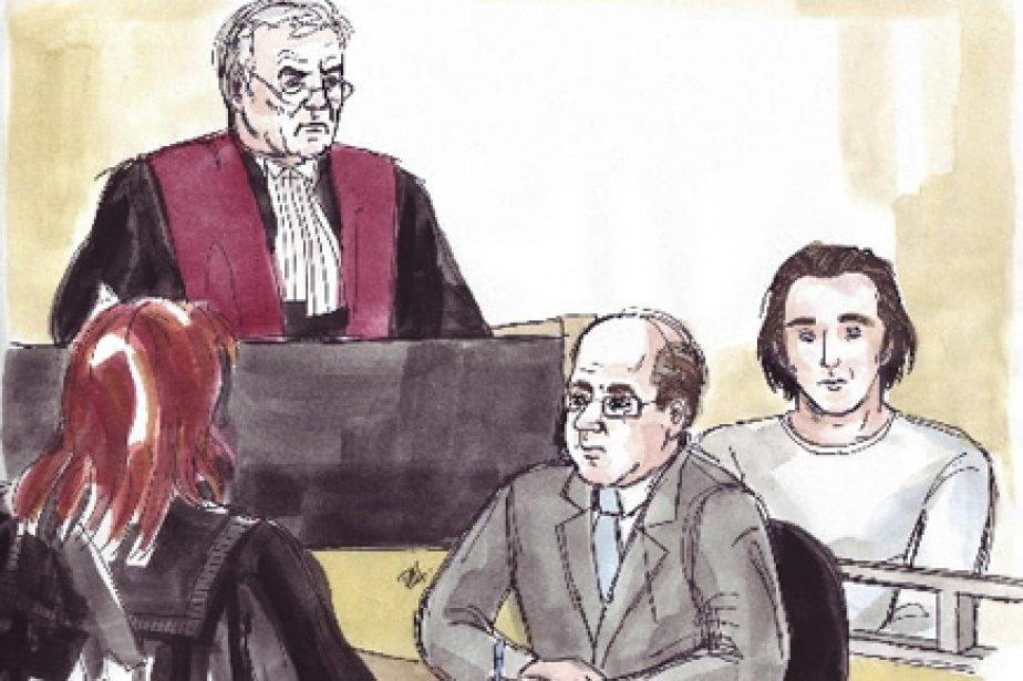 Daniel Lesiewicz (à droite) a plaidé coupable en... (Illustration fournie par Delf Berg)