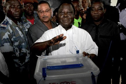 L'ex-président ivoirien Henri Konan Bédié... (Photo: Issouf Sanogo, AFP)