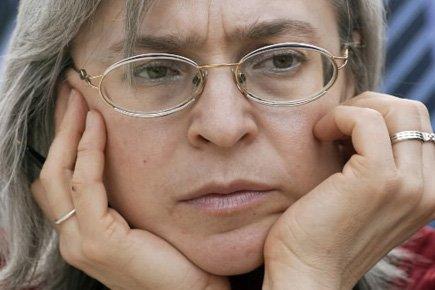 Anna Politkovskaïa, à Leipzig, dans l'est de l'Allemagne,... (Photo: AFP)
