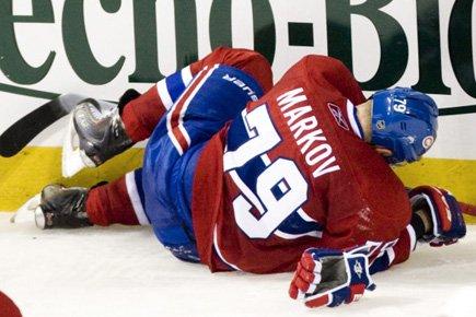 Andrei Markov s'est blessé au genou le 13... (Photo: PC)