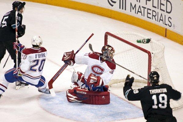Match du Canadien contre les Sharks en mars... (Photo d'archives Reuters)