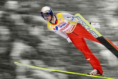 L'Autrichien Thomas Morgenstern a remporté la première des... (Photo: AFP)
