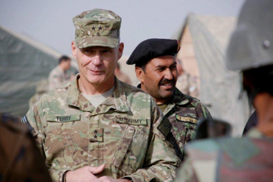 Le major-général James Terry, commandant américain des forces... (Photo: Murray Brewster, PC)